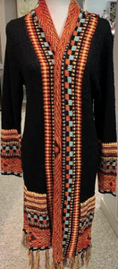 Santa Fe Cardigan Sweater Duster with Fringe - Juli & Boutique