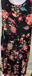 Black and Bright Floral Bouquet Dress - Juli & Boutique