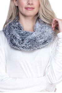 Fluffy soft Faux Fur Infinity Scarf - Juli & Boutique