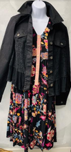 Load image into Gallery viewer, Black and Bright Floral Bouquet Dress - Juli & Boutique