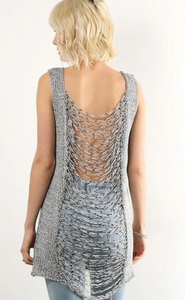 Chic & Sexy Slashback Sweater Tank - Juli & Boutique