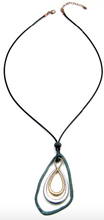 Load image into Gallery viewer, Mixed Metal Triple Drop Artisan Necklace - Juli & Boutique