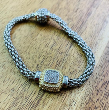 Load image into Gallery viewer, Silver magnet clasp Rhinestone Bracelet - Juli & Boutique