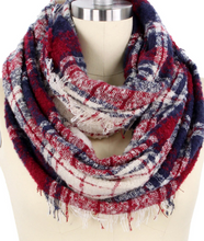 Load image into Gallery viewer, Plaid Infinity Scarf - Juli & Boutique
