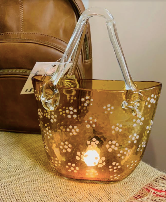 "Handmade glass ""Handbag"" Desk Light - Juli & Boutique"