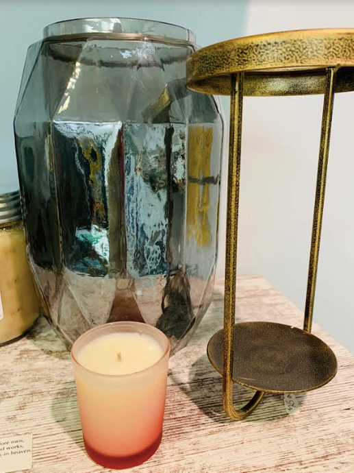 Tinted Glass Candle Holder - Juli & Boutique