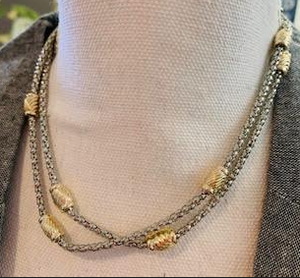 Silver and Gold Nugget Necklace - Juli & Boutique