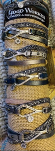 Silver & Leather Good Works Bracelets