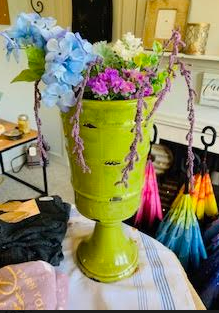 Lime Green Ceramic Old World Vase - Juli & Boutique