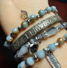 Load image into Gallery viewer, Good works 4 strand bead bracelets with inspirational sayings