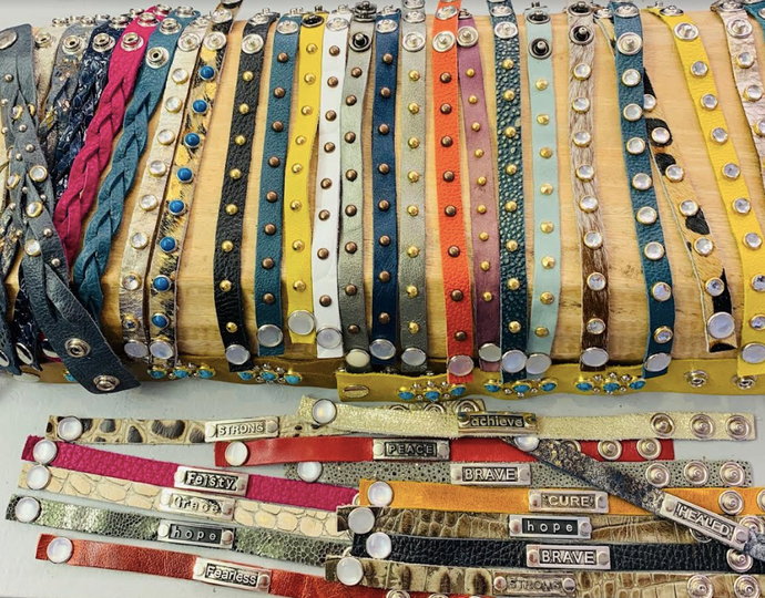 Leather Mix & Match Giving Bracelets - Juli & Boutique