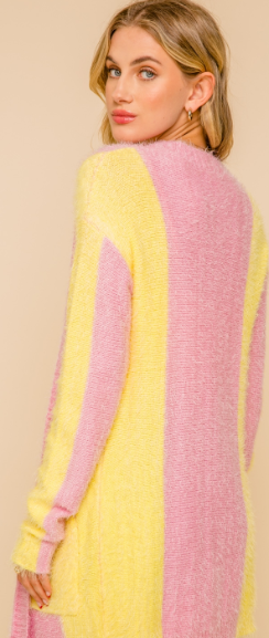 Pink & Lemon Boyfriend Cardigan Sweater - Juli & Boutique