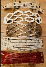 Load image into Gallery viewer, Criss-Cross Open Weave Leather Bracelets - Juli & Boutique