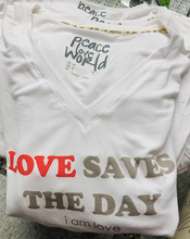 "Load image into Gallery viewer, ""Love Save the Day"" T-Shirt - Juli & Boutique"