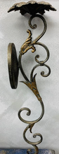 "Load image into Gallery viewer, Pair of ornate metal wall sconces - 30""H - Juli & Boutique"