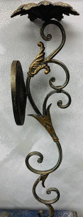 "Pair of ornate metal wall sconces - 30""H - Juli & Boutique"