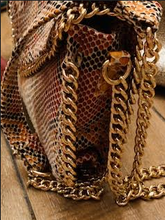 Load image into Gallery viewer, Snakeskin Crossbody Bag with Chain Strap - Juli & Boutique