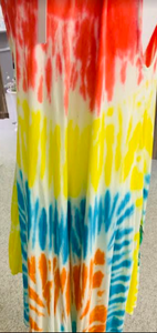 Fun Floral Tie-Die Summer Dress - Juli & Boutique