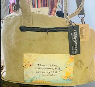Vintage Addiction- I Haven't Been Everywhere Travel Bag - Juli & Boutique