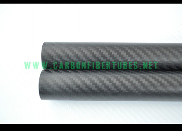 OD 42mm - 200mm X Length 1000MM 100% Roll Wrapped Carbon Fiber Tube 3K /Tubing Plain/Twill Glossy/Matte