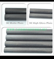US warehouse shipments OD 5mm - 10mm X 500MM 100% Roll Wrapped Carbon Fiber Tube 3K /Tubing