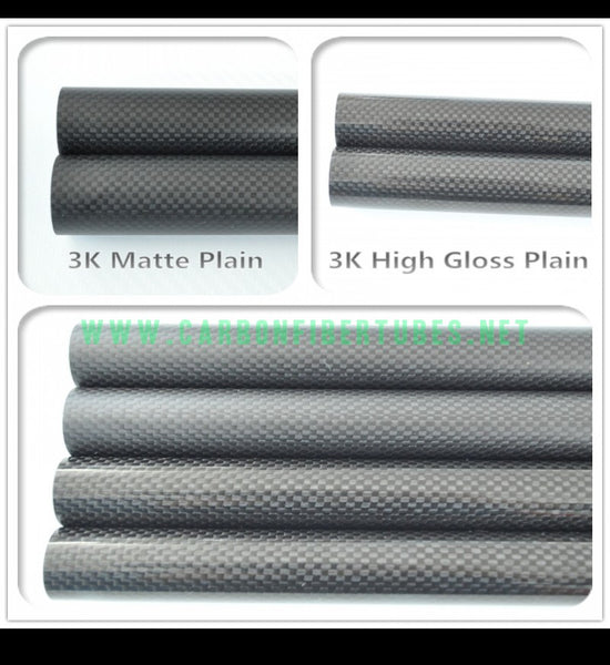 OD 24mm X ID 20mm 22mm X 1000MM 100% Roll Wrapped Carbon Fiber Tube 3K /Tubing 24*20 24*22 3K Plain Glossy/Matte