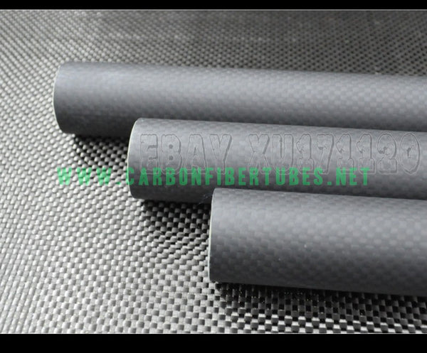 OD 28mm X ID 25mm 26mm X 500MM 100% Roll Wrapped Carbon Fiber Tube 3K /Tubing Plain Matte 28*25 28*26