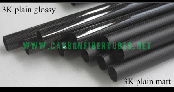 OD 5mm - 10mm X Length 1000MM 100% Roll Wrapped Carbon Fiber Tube 3K /Tubing Plain Glossy/Matte