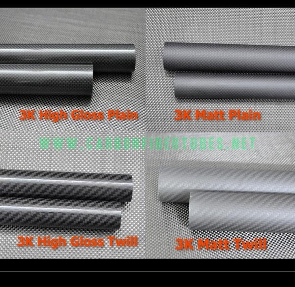 OD 22mm X ID 18mm 19mm 20mm X 500MM 100% Roll Wrapped Carbon Fiber Tube 3K /Tubing Twill/Plain Glossy/Matte 22*18 22*19 22*20