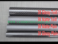 OD 15mm X ID 10mm 12mm 13mm X 500MM 100% Roll Wrapped Carbon Fiber Tube 3K /Tubing Glossy/Matte 15*10 15*12 15*13