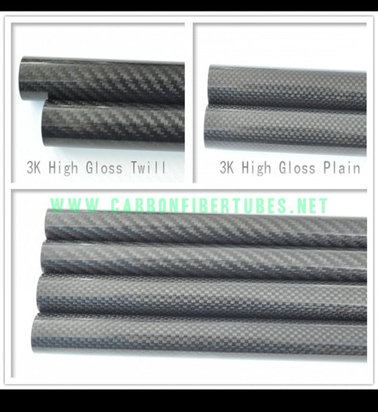 OD 26mm X ID 22mm 24mm X 1000MM 100% Roll Wrapped Carbon Fiber Tube 3K /Tubing 26*22 26*24 3K Plain/Twill Glossy