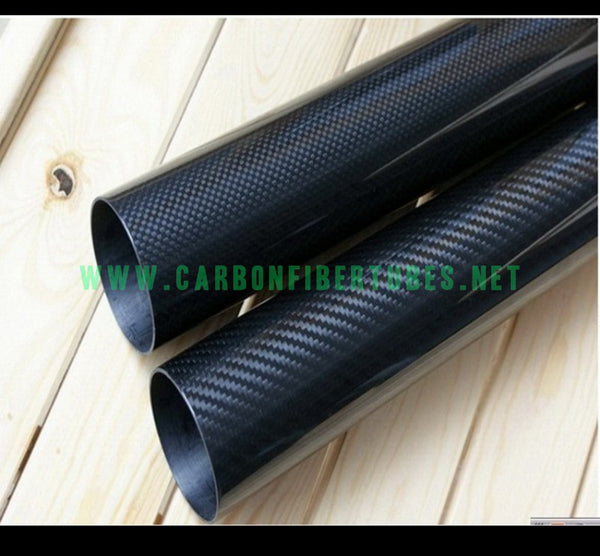 OD 26mm X ID 22mm 24mm X 500MM 100% Roll Wrapped Carbon Fiber Tube 3K /Tubing Twill/Plain Glossy 26*22 26*24