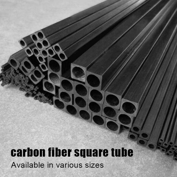 Carbon Fiber Square Tube outer diameter 2mm 2.5mm 3mm 4 5mm 6mm 8mm 10MM X 500MM