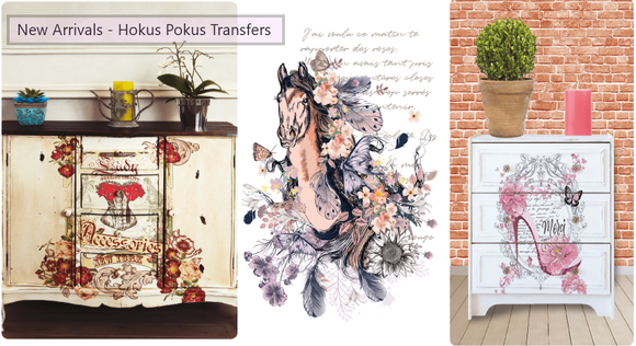 Baillea's Interiors, UK Stockist Retailer of Hokus Pokus and ReDesign with Prima Furniture Transfers and Accenting Products