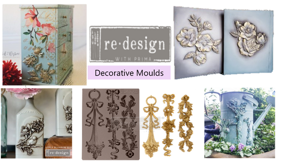 Baillea's Interiors. UK Retailer of ReDesign with Prima furniture transfers & decal, gilding waxes, silicone moulds & moulding mediums, clay & resin.