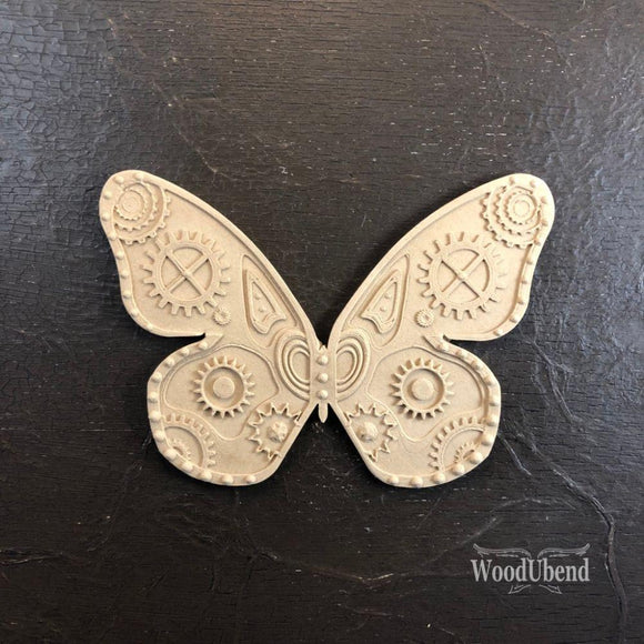 BUTTERFLY Steam Punk Decorative Moulding Applique WoodUbend #2000