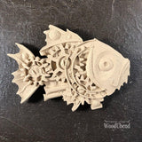 WoodUbend Steam Punk Fish Decor Moulding Applique