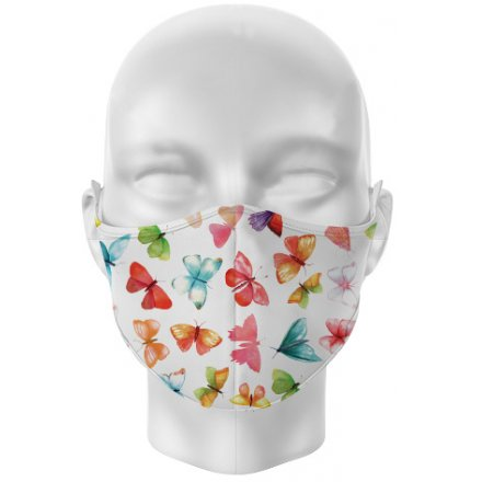 Adult Face Covering Mask - Cotton, Fitted Metal Strip Nose, Adjustable Ear Loop