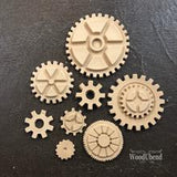 WoodUbend Steam Punk Cogs Decor Moulding Applique