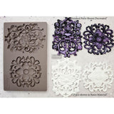"KINGSBURY MEDALLION Medallion Decor Mould Re-Design with Prima 8"" x 5"""