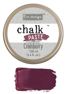 ReDesign with Prima Cranberry Chalk Paste