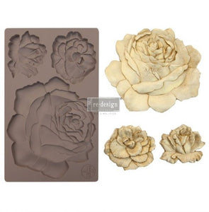 "ETRUSCAN ROSE Decor Mould Re-Design with Prima 8"" x 5"""