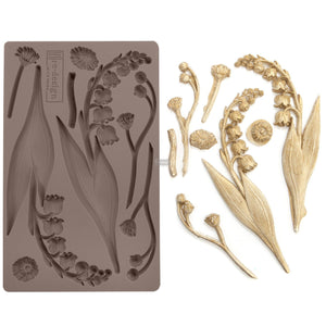 "BELL ORCHIDS Decor Mould Re-Design with Prima 8"" x 5"""
