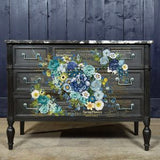 COSMIC ROSES - Furniture and Wall Decal Transfer - Re-design Decor Transfer