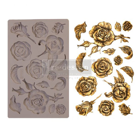 Silicone Decor Mould - Fragant Roses