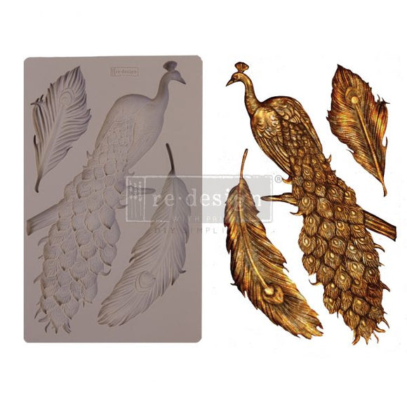Regal Peacock Decor Mould ReDesign with Prima