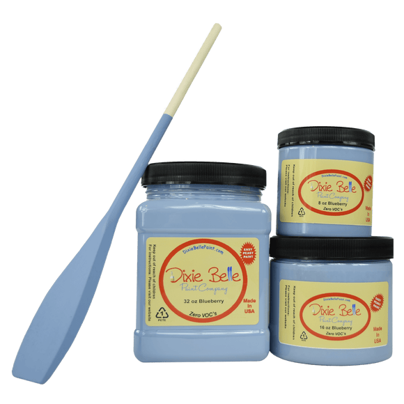 BLUEBERRY - Dixie Belle - Perwinkle Blue Grey Chalk Mineral Paint - 236ml/8oz - 473ml/16oz