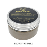 Brown Van Dyke Metallic Paste by Posh Chalk, Mixed Media