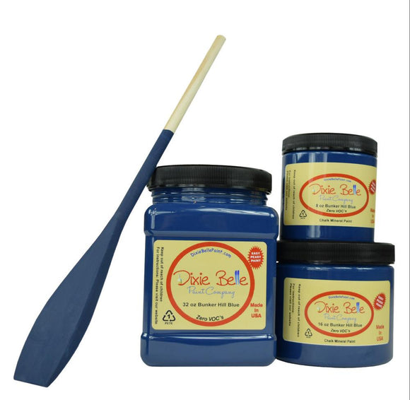 BUNKER HILL BLUE - Dixie Belle - Dark Indigo Blue Chalk Mineral Paint - 236ml/8oz - 473ml/16oz