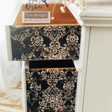 ReDesign with Prima Dark Damask Decoupage Decor Tissue Paper
